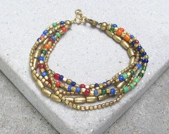 Multi Color Beaded Bracelet Beaded Bracelet Friendship Bracelet Delicate Bracelet Seed Bead Bracelet Bohemian Bracelet Ethnic Bracelet