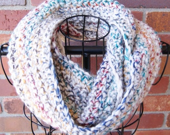 Multi Color Crochet Infinity Scarf