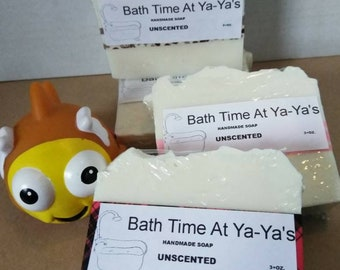 Soap, Unscented, cold process, handmade