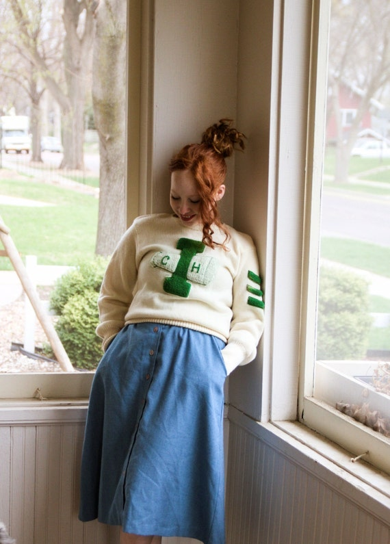 1940s Cheer Varsity Sweater - image 2