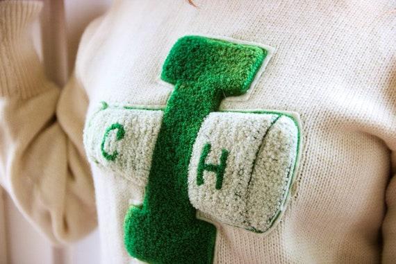 1940s Cheer Varsity Sweater - image 4