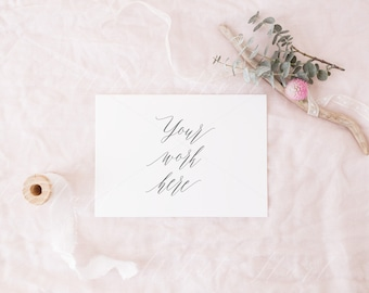 Download Free Styled stock photography - Wedding stationery mockup - Modern, minimal and feminine - High Res Jpg + PSD - weddings, card, invitation - 5x7