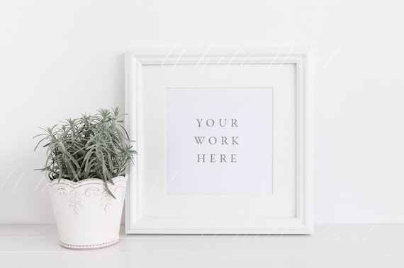 Styled stock photography White square frame mock up | Etsy