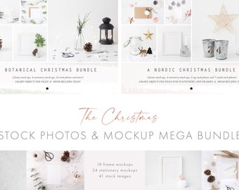 The Christmas Mockup and Photo Bundle - A mix of past bundles and stock photos all packed in a bundle at a great price - DIGITAL downloads