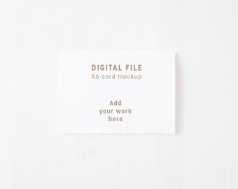 A6 minimal stationery mockup - white card - minimal style - Psd smart object + Png + Jpeg - weddings, card, invitations