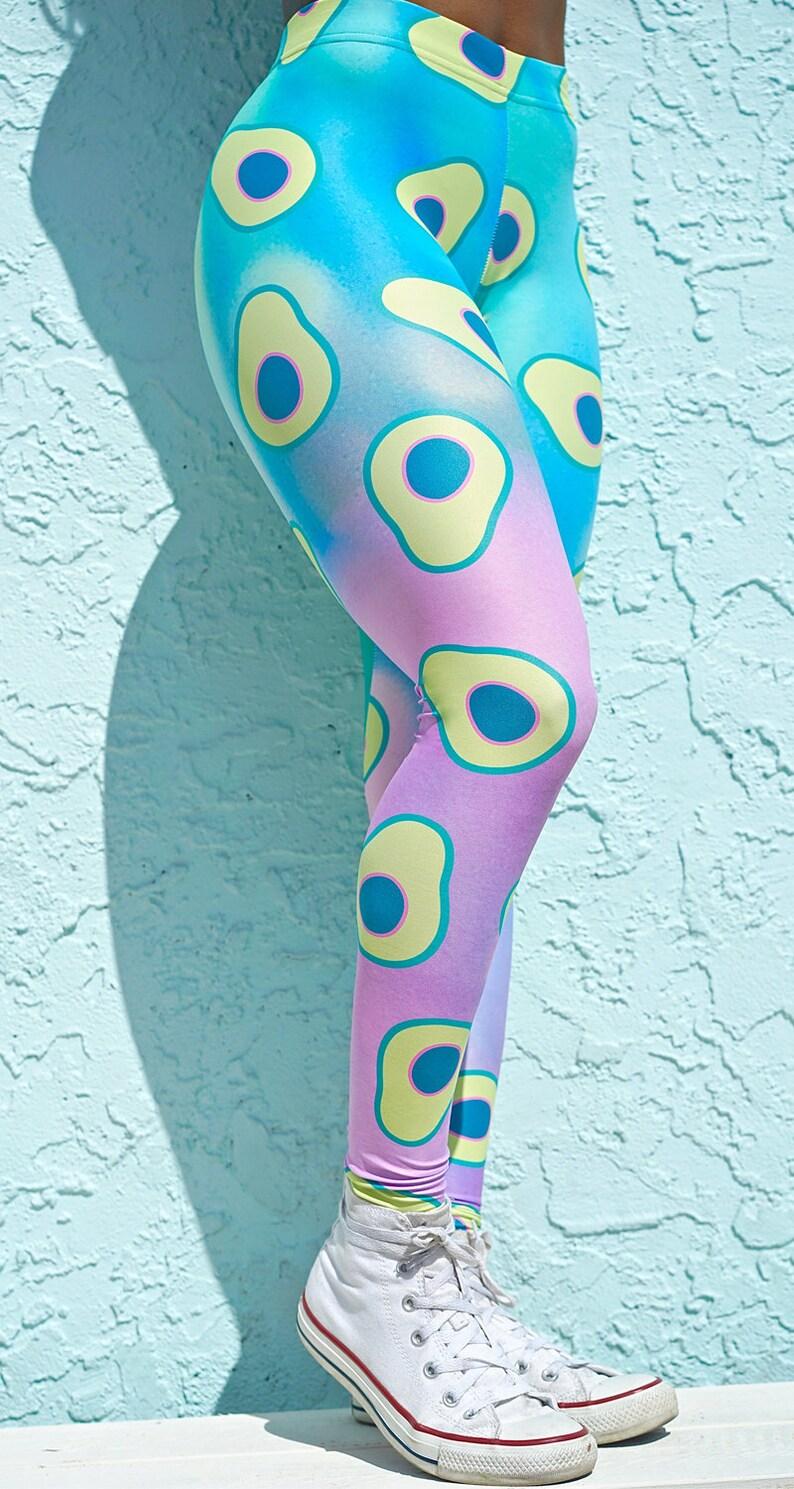 be25c977d0834 Holy Guacamole Avocado Leggings colorful leggings printed | Etsy