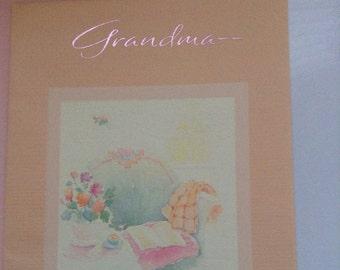 Happy Birthday Grandma card unused+env