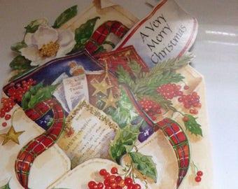 Vintage Christmas card Gordon Fraser unused+env