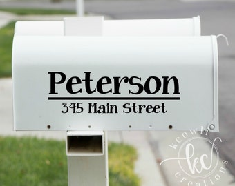 Mailbox Decal-Style 27-outdoor vinyl | Etsy