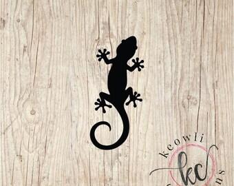 f5f3f0741b39 Gecko window sticker | Etsy