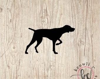 German Shorthair Pointer 3 Quail L447 8 inch shorthaired dog decal