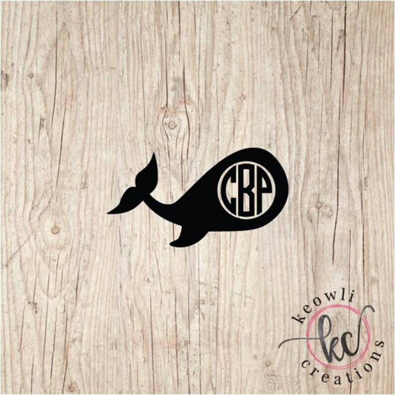Whale Monogram Vinyl Decal