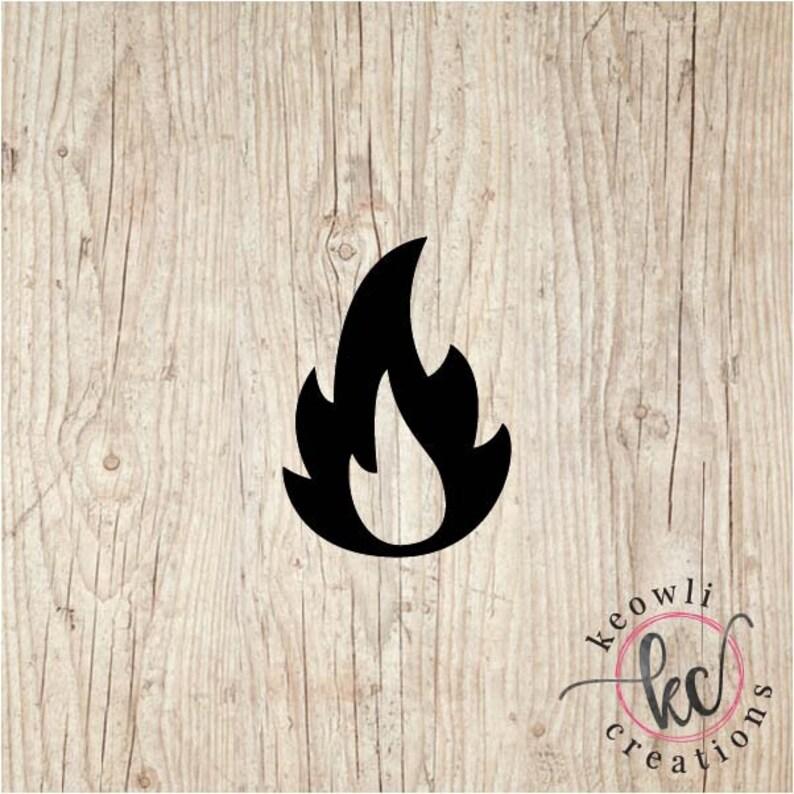 Fire Vinyl Decal