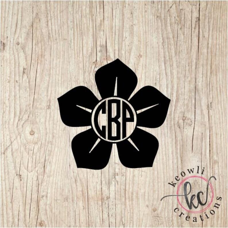 Flower Monogram Vinyl Decal-Style 7