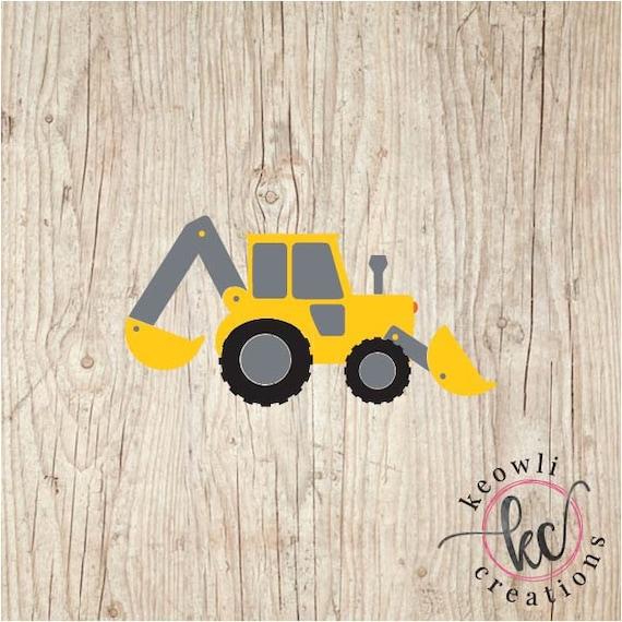 Backhoe Tractor Car or Truck Window Laptop Decal Sticker