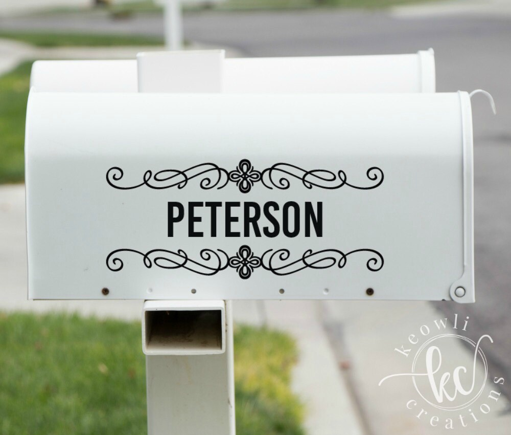 Mailbox Decal-Style 03-outdoor vinyl