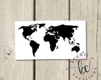 world map vinyl decal