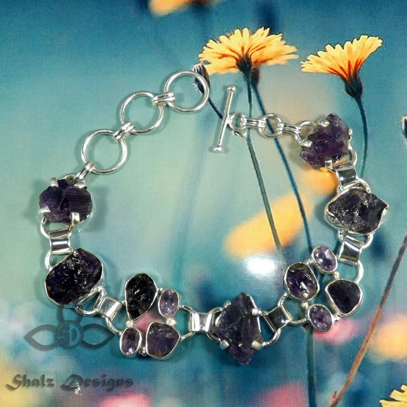 Wedding Bracelets Black Friday Sale Designer Bracelets Amethyst Rough Bracelets Amethyst Bracelets 925 Silver Bracelets Jewellery