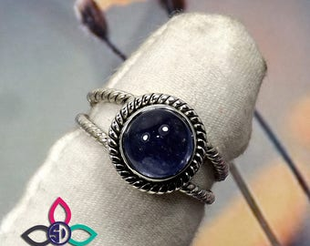 Tanzanite Ring, Blue Gemstone Ring, Silver Designer Ring, Gemstone Silver Ring, Handmade Silver RIng, Birthday Gift Idea, Gift For Her