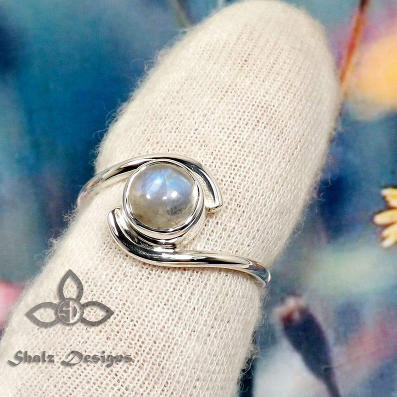 Turquoise Ring Plain Silver Ring 20/% off Per Item Rainbow Moonstone Ring Gift For Her Tanzanite Ring Gemstone Ring Solid Silver Ring
