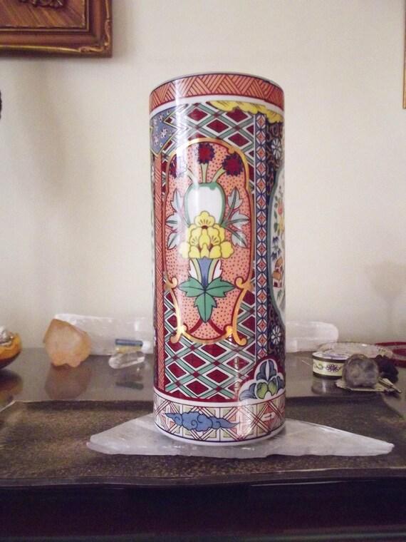 Vintage Imari Japanese Vase Fine China National Silver Etsy