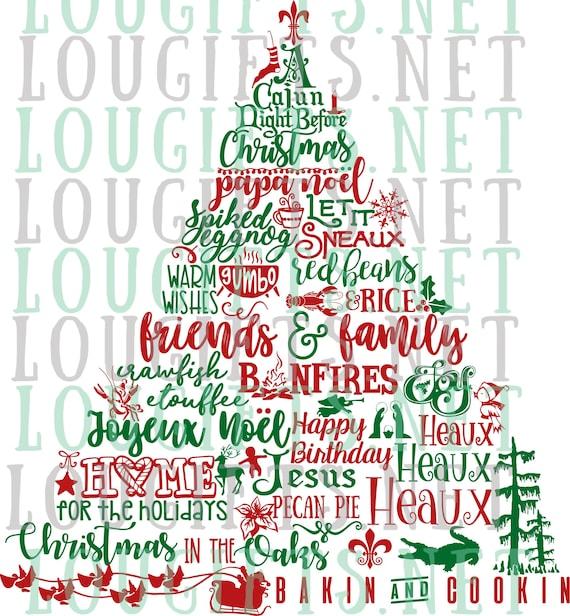 Cajun Christmas.Cajun Christmas Tree Tee