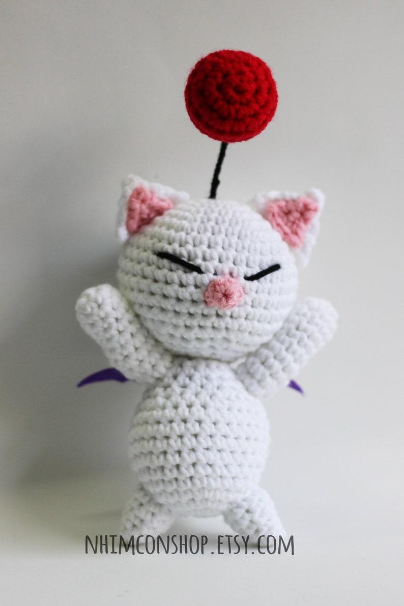 Moogle and Stiltzkin Kupo Couple Final Fantasy IX FF9 Chibi Plushie Amigurumi Stuffed Toy Doll Handmade Softies Gift Baby Crochet Knit Plush