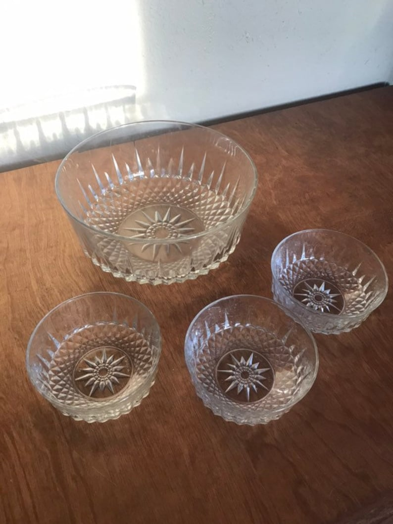 195d60c66a27 Bowl Set Star Of David Four Pieces Three Salad Fruit Style One