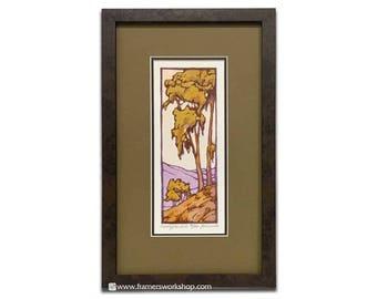Eucalyptus Hills - Framed Yoshiko Yamamoto Signed and Numbered Letterpress Print