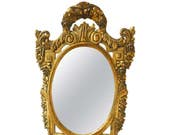 Neoclassical French Louis XVI Style Giltwood Mirror