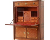 French Louis XVI Style Fall-Front Secretaire Abattant