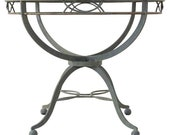 Midcentury French Neoclassical Style Iron Garden Dining Table