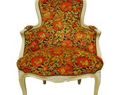 French Louis XV Style Laquered Bergere