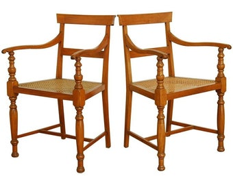 Pair Of Regency Style Anglo Indian Colonial Armchairs