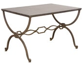 French Iron Cocktail Table in the Manner of Maison Jansen