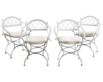415f5b7e7ea75 Set of Four Neoclassical Cast Iron Garden Chairs