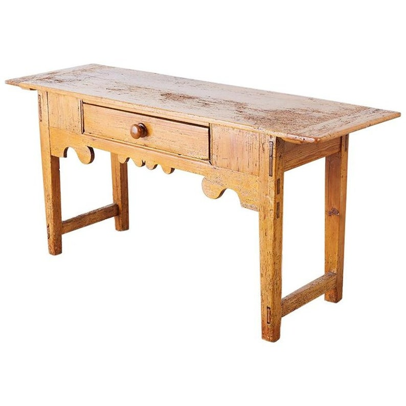 18th Century Rustic Pine Farmhouse Table or Console