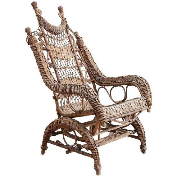 Cool 19Th Century Heywood Wakefield Wicker Platform Rocker Ncnpc Chair Design For Home Ncnpcorg