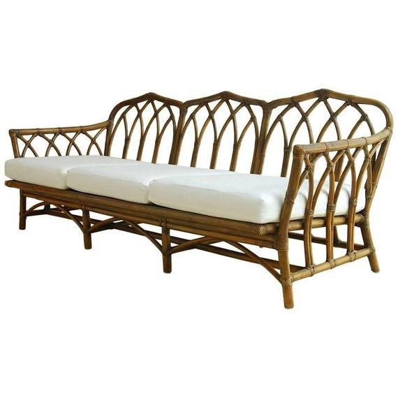 Beau McGuire Organic Modern Bamboo Rattan Sofa | Etsy