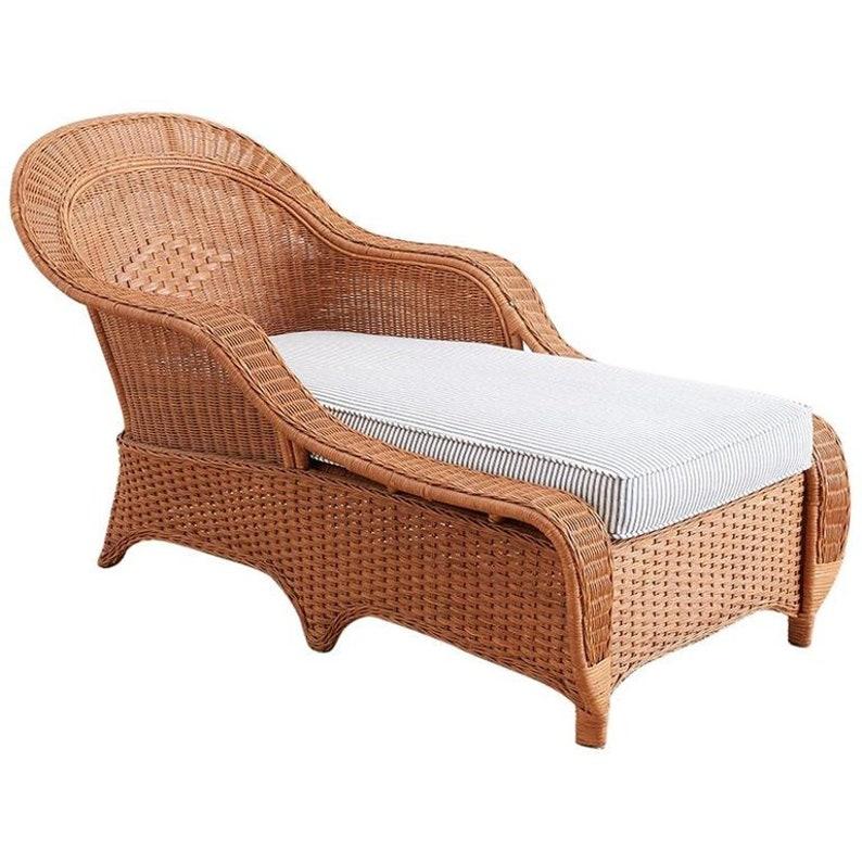 Osier Style Français À En Longue Avec MatelasEtsy Toile Chaise WEH2ID9