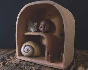 Raw Ceramic Wall Hanging Curiosity Box