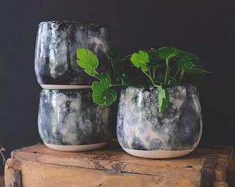 Ceramic Bubble-glazed planter pots