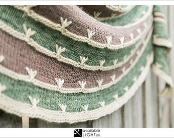 SHAWL KNITTING PATTERN: Wetlands - Topography Collection