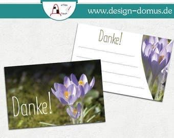 "Mini-Dankekarten ""Frühling"""
