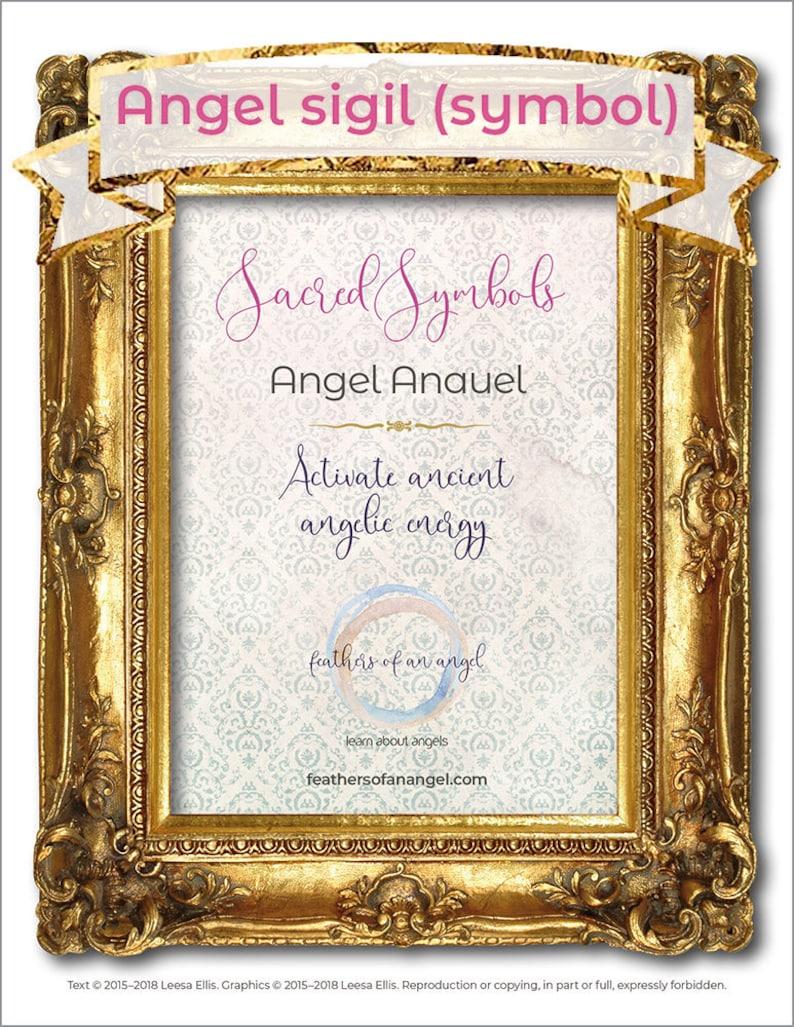Sacred Symbols: Angel Anauel  Sigil, spiritual, printable, instant  download, US Letter