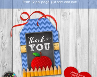 Instant Download Teacher Thank You Tags