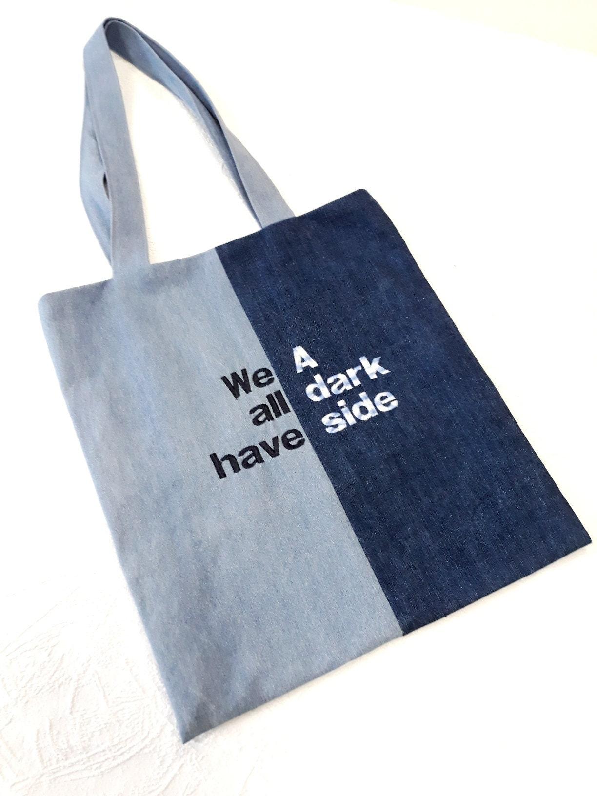 d6c9eab6406 Denim-Einkaufstasche-Blue-Jeans Markt Tasche Tuch schöne | Etsy