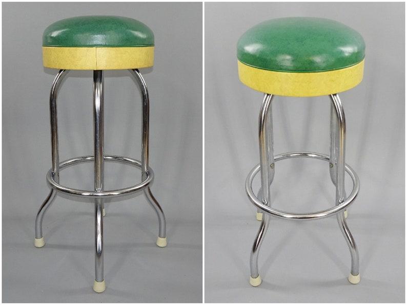Anni 1950 anni 1960 vintage diner bar o gelateria sgabello etsy