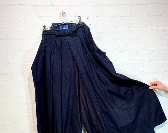 Vintage Natural Fermented Indigo Dyed Cotton HAKAMA Pants for Martial Arts -碧(AO)