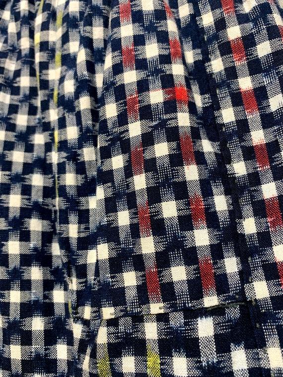 Vintage Monpe Trousers: Kurume Kasuri Ikat Woven Cotton